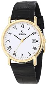 Bulova Men's 97B13 Black Tortoise Shell Leather Strap Watch