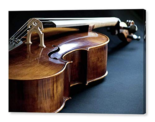 (Cello Photography on CANVAS String Instrument Fine Art Photographic Print Classical Music Gift for Musician Brown Blue Contemporary Art Ready to Hang 8x10 8x12 11x14 12x18 16x20 16x24 20x30)