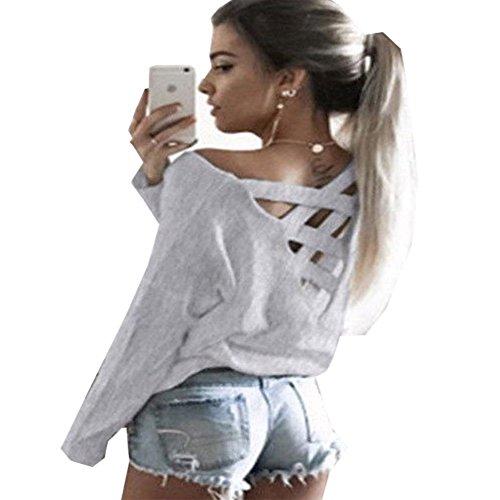 KOINECO - Camisas - para mujer gris