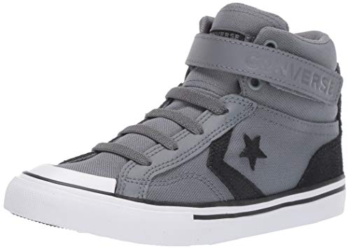 Converse Boys Kids' Pro Blaze Canvas High Top Sneaker, Cool Grey/Black/White, 5 M US Big ()