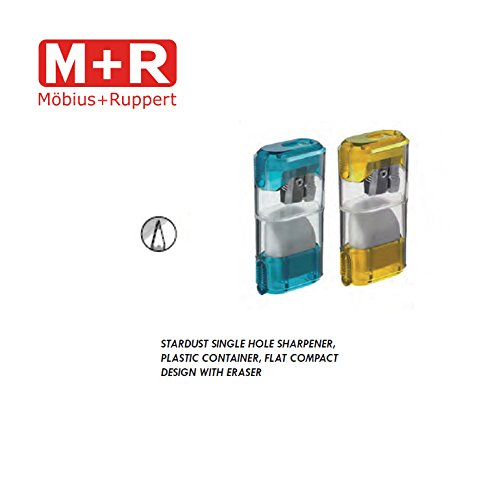 Mobius and Ruppert (M+R) STARDUST single hole sharpener w/ ERASER (0955)