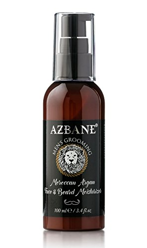Azbane Moroccan Argan Face & Beard Moisturizer 100 Ml - 3.4 Fl.oz