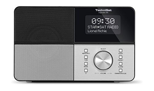 TechniSat Digitale radio 306 DAB radio (DAB+, FM, AUX-ingang, hoofdtelefoonaansluiting, favorietengeheugen, wekker…