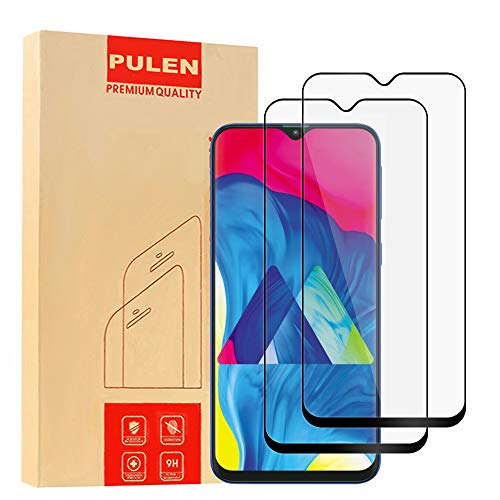 ([2-Pack] Pulen for Samsung Galaxy M10 Screen Protector,Galaxy A10 Screen Protector Full Coverage No Bubble Free Anti-fingerprints 9H Hardness Tempered Glass for Galaxy A10/M10 2019 (Black))