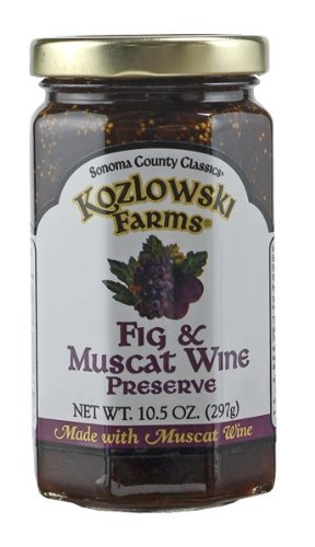 Kozlowski Farms Wine Preserve, Fig and Muscat, 10.5-Ounce