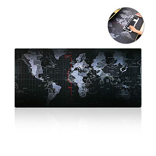 - FOONEE World Map Mouse Pad - Portable Large Table Pad Anti-Slip Rubber Base Full Desk Coverage Extended Gaming and Office Mousepad(31.4911.81inch)