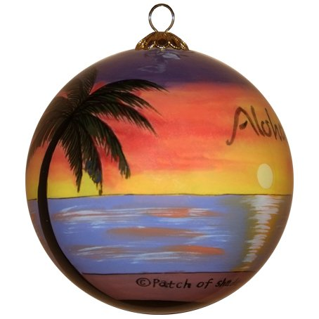 Maui By Design Hula Girls at Sunset Ornament Hand Painted Glass with Gift Box HU1-H