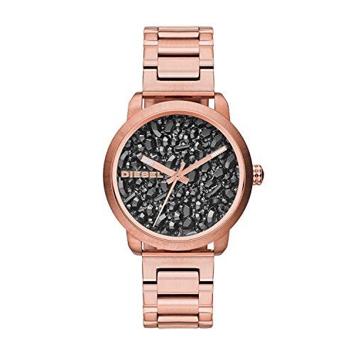 Diesel DZ5427 Ladies Flare Gunmetal Rose Gold Watch