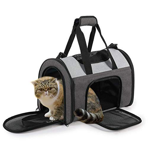 JESPET Soft Pet Carrier for Small Dogs, Cats, Puppy, Airline Approved Pet Travel Carrier Bag for Car, Airline Travel with Family (16