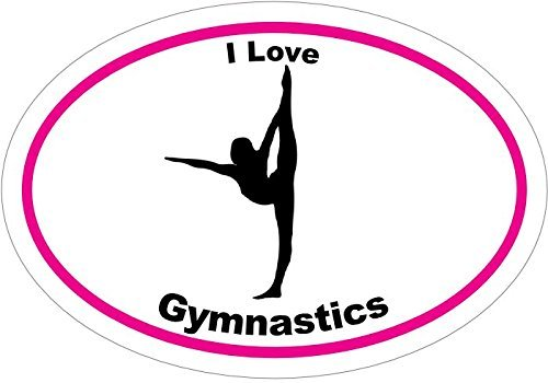 ION Graphics Magnet I Love Gymnastics Vinyl - Gymnastics Vinyl Magnet - Perfect Gymnastics Mother, Team, or Coach Gift - Made in The USA Size: 4.7 x 3.3 inch (Best Gymnastic Coaches In Usa)