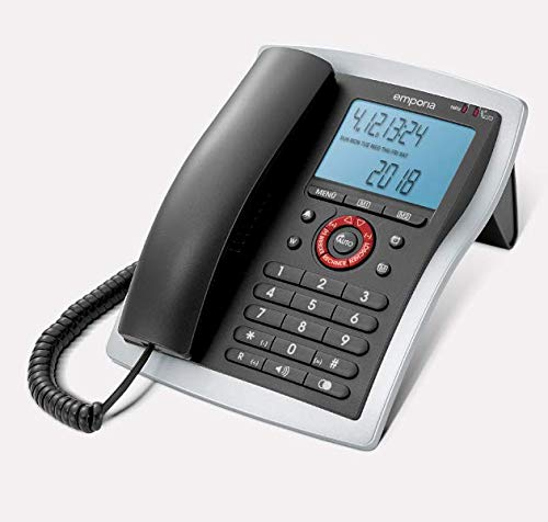 Emporia T14 Amplified corded Desk/Office telephone Black/Silver (Official UK Version)