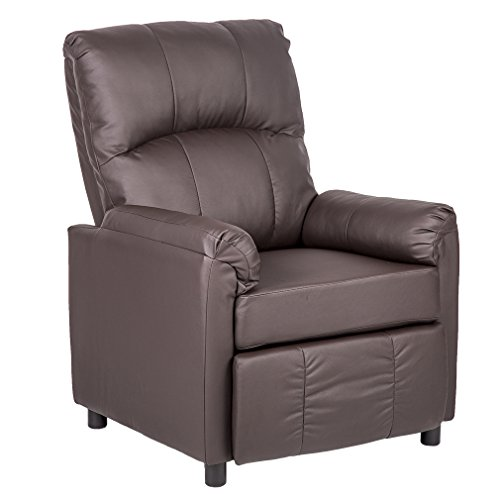 BestMassage Leather Single Arm Recliner Chair Sofa Reclining Couch Accent Chair (Chairs Single Leather)