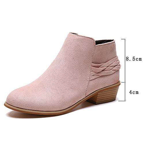 Pink Ankle Solid Women's On Boots Bootie Short Ankle Knitted Ladies Shoes Martin OverDose Boots Boots Flock Cheap Fashion Pull xvqwzFqU