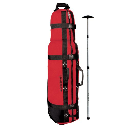 Club Glove Burst Proof with Wheels II Golf Travel Cover with Free Stiff Arm Red, Outdoor Stuffs