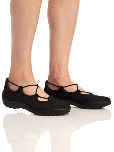 Bernie Mev Donne Truccate Collegare Basso Slittamento Alto Su Scarpe Nere Camminare