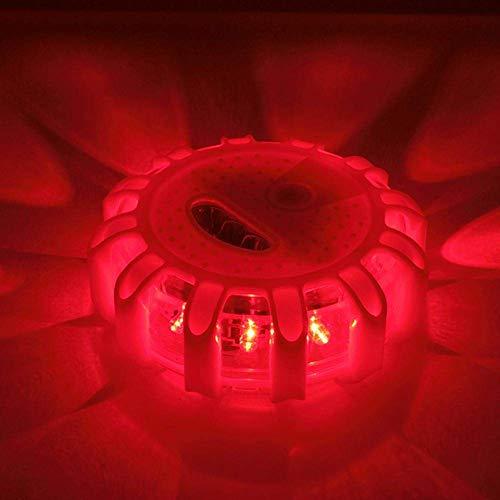 OKMINIOK 4 Unidades Faro LED de Advertencia con Bolsa de Almacenamiento 9 Modos de Flash Resistente al Agua Base magn/ética y Gancho luz de Seguridad de Emergencia