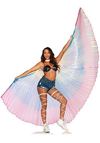 Leg Avenue Women's Costume, Multicolor, - Wings Sparkle