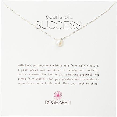 - Dogeared Pearls of Success, Small White Pearl, Silver Chain Necklace, 16