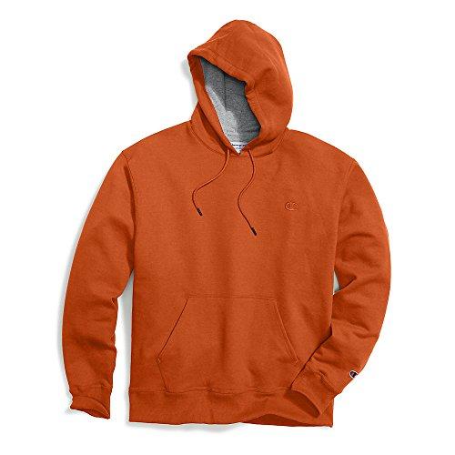 (Champion Men's Powerblend Pullover Hoodie, Orange, XX-Large)