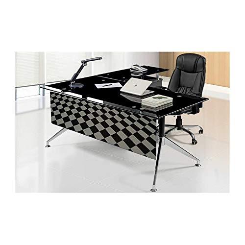 Grupo SDM Mesa Oficina despacho Mueble a Derecha, Cristal, 160x82 ...