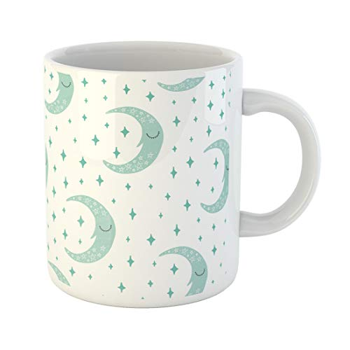 - Semtomn Funny Coffee Mug Blue Abstract Scandinavian Pattern Kids Moon and Different Colorful 11 Oz Ceramic Coffee Mugs Tea Cup Best Gift Or Souvenir