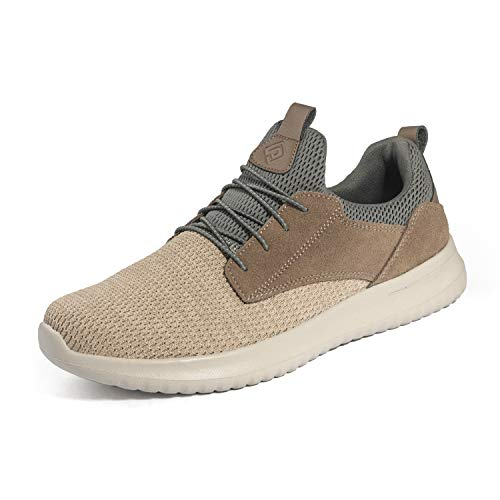 Bruno Marc Men's Slip On Walking Shoes Sneakers Walk-Work-01 Khaki Size 6.5 M US