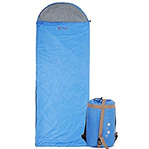 Ultra Lightweight Sleeping Bag For Backpacking Comfort For Adults Warm Weather With Compression Sack