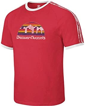 Adidas Denver Nuggets NBA Retro 3 Stripe Premium Soft T-shirt camisa: Amazon.es: Deportes y aire libre