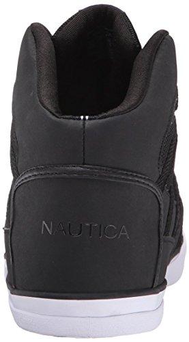 Nautica Mens Broadside White Fashion Sneaker Nero