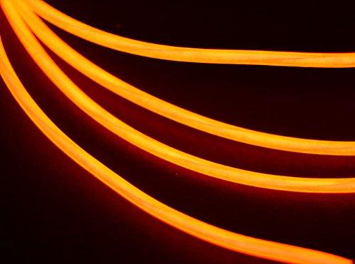 GlowCity 2.6mm 5FT Light Up El Wire Kits (Orange) ()