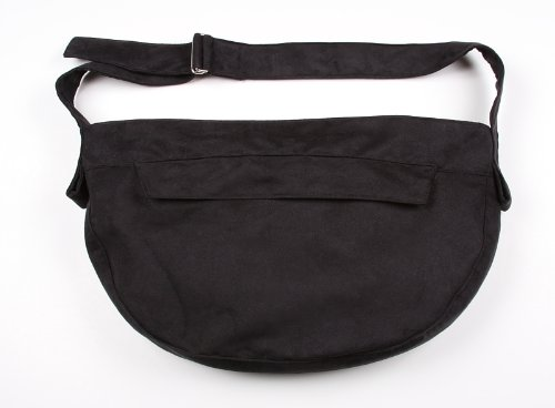 Luxesuede Cuddle Carrier for Dogs by Susan Lanci Designs (Black)