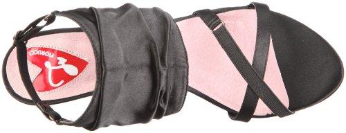 Fiorucci Sandal 40133 - Sandalias de vestir de tela para mujer Negro