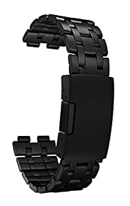 Pebble Steel Metal Watchband - Matte Black