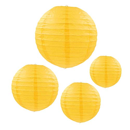 Aolvo Paper Lanterns Primary Colors, Colored Paper Lanterns, Chinese/Japanese Paper Hanging Decorations Ball Lanterns Birthday Party Wedding Baby Bridal Shower Easter Classroom Decorations