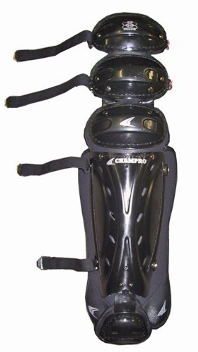 Champro Pro Plus Umpire Leg Guard (Black, 17-Inch)