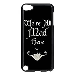 Cheshire Cat Quotes We Are All Mad Here Printed Environmental Custom TPU Case Cover for iphone 5s