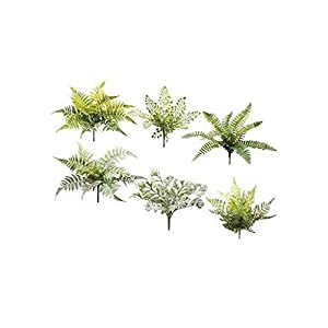 "Pack of 6 - Assortment of Artificial Fern Picks - 10"" to 12"" Tall 114"