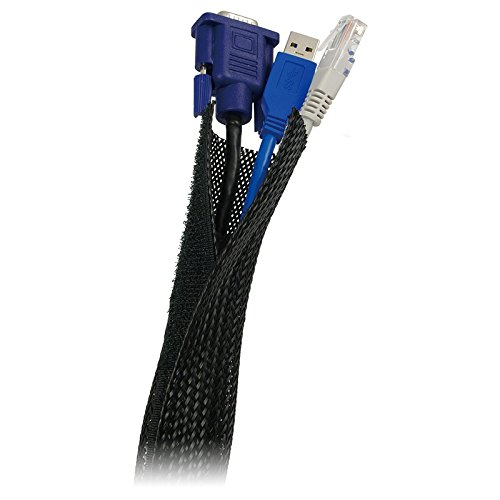 LogiLink Cable FlexWrap (guaina flessibile raccogli cavi), nera KAB-0006