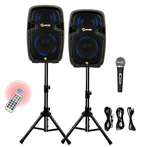 Buy Discount Cchainway 10'' 1600 Watts Dual 2-Way Powered PA Speaker System, Portable Control DJ Spe...