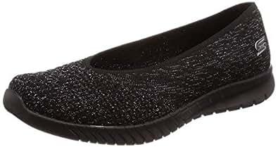 Skechers Active Wave-Lite-My Dear Women's Slip On 11 B(M) US Black-Black