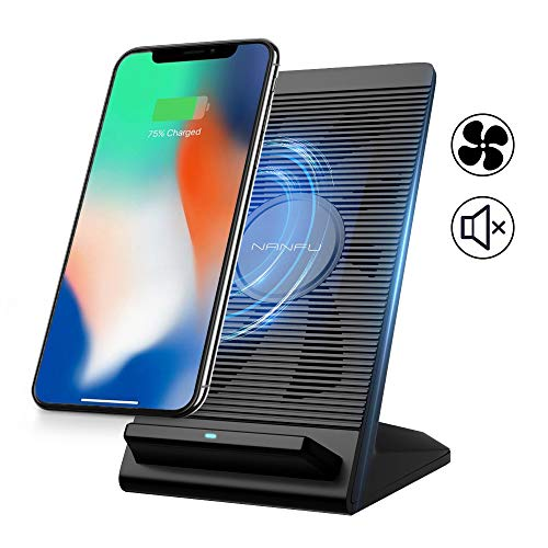 NANFU Fast Wireless Charging Stand with Cooling Fan Only $9.98 **iPhone, Galaxy, and More**