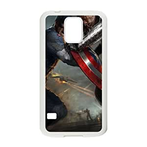Samsung Galaxy S5 Cell Phone Case White Captain America V8387841