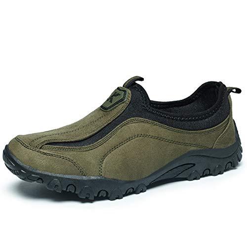 Vert LOVDRAM Chaussures De Randonnée Hommes Outdoor Chaussures De Randonnée Antidérapantes Chaussures De Randonnée Hommes De Grande Taille Chaussures De Marche 39-46