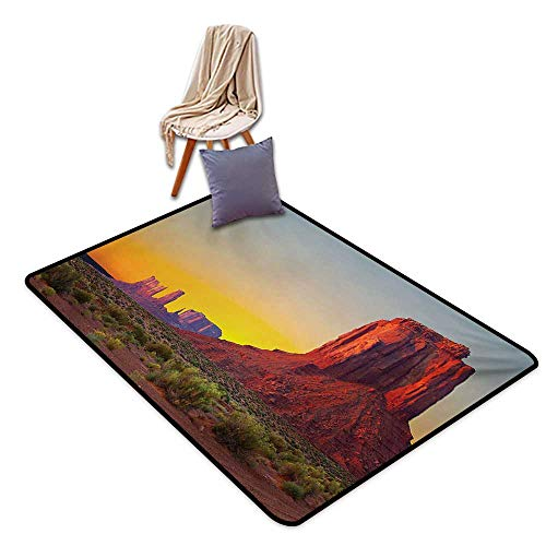 Canyon Large Outdoor Indoor Rubber Doormat Sunset in Famous Grand Canyon Antiquated Natural Wonders of World Heritage Photo Water Absorption, Anti-Skid and Oil Proof 48