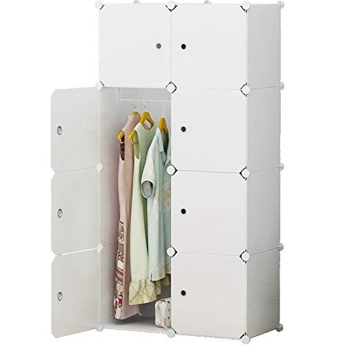 KOUSI Portable Clothes Closet Wardrobe Bedroom Armoire Dresser Cube Storage Organizer, Capacious &...