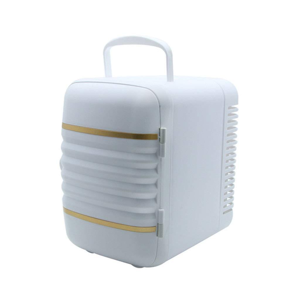 YsinoBear 4L Car Mini Refrigerator, Car Dual-use Portable Car Refrigerator Outdoor Car Refrigerator (Color : White)