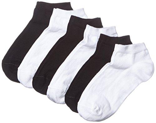 MyWay Damen Sneaker Socken, 6er Pack, Gr. 35/38, Schwarz (black/white 968)