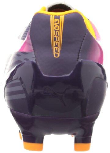 Puma evoSPEED 4.2 FG 102868 Herren Fußballschuhe Violett (blackberry cordial-fluo orange-fluo pink 02)