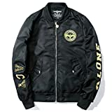 Men Aviator Bomber Young Casual Embroidery Epaulet Military Style Jacket