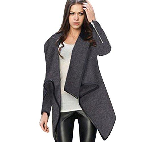 Women's Cardigans,Laimeng Lady Long Wool Slim Winter Warm...